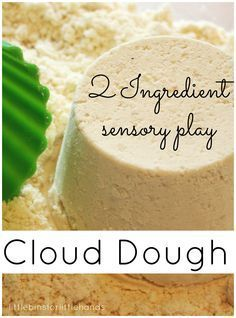 A go-to activity for an indoor day. Homemade cloud dough is sure to please and you only need 2 ingredients from the kitchen. Enjoy taste safe sensory play!