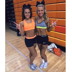 Blessed to be an Oklahoma State Large Coed cheerleader with my roomie!!!
