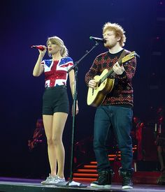 Taylor Swift and Ed Sheeran.