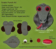 Alex's Creative Corner: Snake Punch Art