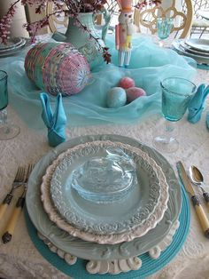 Get ready for Easter for less at HomeGoods like Purple Chocolat Home did with these bunny dishes!