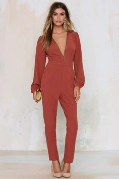 Take a Dive Plunging Jumpsuit