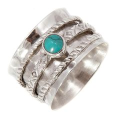 Are you interested in our turquoise silver spinning rings? With our handmade chunky silver rings you need look no further. Black Gold Jewelry, Turquoise Jewelry, Bling Jewelry, Metal Jewelry, Jewelry Rings, Jewellery, Western Rings, Western Jewelry, Indian Jewelry