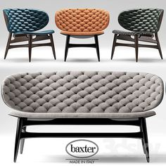 Sofa and chair baxter DALMA Espais Interiors Vertex Bcn