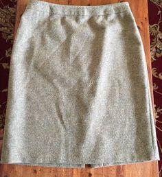 Brooks Brothers 346 Green Tweed Skirt US Size 10 #BrooksBrothers #StraightPencil