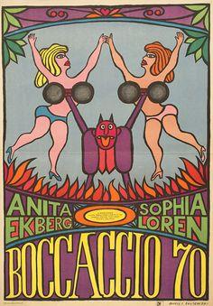 Boccaccio '70 1960 Polish A1 Poster