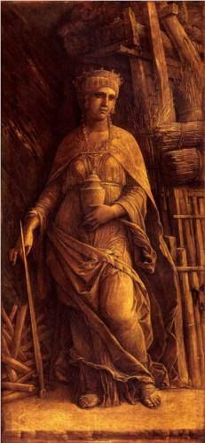 Queen Dido of Carthage, oil on canvas by Andrea Mantegna, 1500