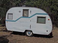 """1965 Vintage Mobile Scout 13"""" travel trailer camper canned ham"""