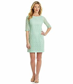 Pendleton Lace Shift Dress #Dillards