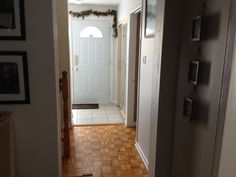 Front hallway before