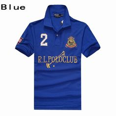 Ralph Lauren Men RL Polo Club Dual Match Ribbed Polo Collar Blue 7b5c9cd068ca