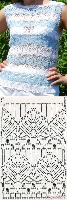 Ideas Crochet Lace Sweater Pattern Knitting Stitches For 2019 T-shirt Au Crochet, Cardigan Au Crochet, Pull Crochet, Gilet Crochet, Mode Crochet, Crochet Gratis, Crochet Shirt, Crochet Jacket, Crochet Baby