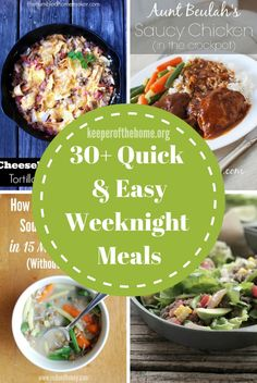 Most of these 30 meals can be whipped up in 30 minutes or less. Most require little prep time. And all of these quick and easy weeknight meals are going to nourish your family a bajillion times more than the drive-through, and be cheaper, too.