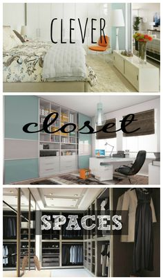 Clever closet spaces for your home. Office, wardrobes, walk in closets