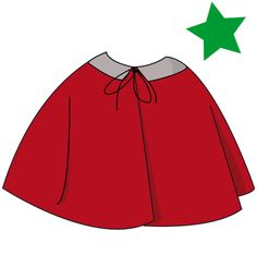 Patron cape gratuit - free childrens' cape pattern