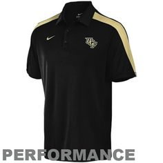 28b78301 This black and gold Nike UCF polo features the UCF logo on the upper left  chest
