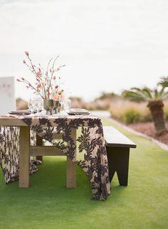 Black Plantation Bench – Ooh! Events Design Center
