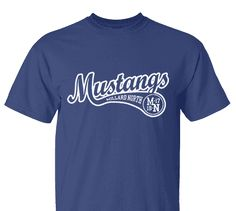 High School Impressions search BSE-011-W; Mustangs High School Baseball T-Shirts- Create your own design for t-shirts, hoodies, sweatshirts. Choose your Text, Ink and Garment Colors.  Visit our other boards for other great designs!