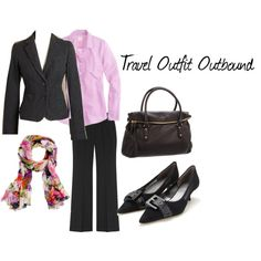 """""""Outfit 1 from 10 piece travel"""" by vweldon on Polyvore"""