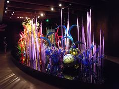 Dale Chilhuly, Master Glass Artist. This is an example of his 'Mille Fiori' at Chihuly Gallery in St. Petersburg, Florida.