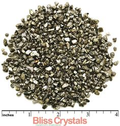 "2 oz PYRITE ""Sand"" Mini Nugget Rough Stone (3-5 mm) for Crystal Healing , Reiki, Wicca, Jewelry & Crafts"