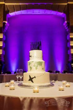 Travel Themed Wedding Cake Grain Exchange Photography - Ashley & Mike!