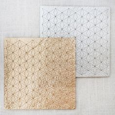 Lasercut Leather Coasters by Molly M Designs