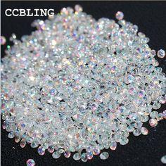 CCBLING New 1440pcs/bag 1.3mm Many colors Zircon Rhinestones Micro Rhinestones Mini Nail Art Rhinestones Nail Decorations  Price: 1.83 USD