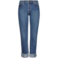 Whistles Relaxed Boyfriend Jeans, Denim (£76) ❤ liked on Polyvore featuring jeans, pants, bottoms, blue jeans, boyfriend denim jeans, distressed jeans, destroyed jeans and cropped jeans