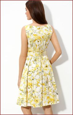 spring dresses | Muse Floral Print Summer Day Dress | Floral Print Dresses