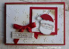 Résultats de recherche d'images pour « card making ideas christmas stampin up Christmas Card Crafts, Stampin Up Christmas, Christmas Cards To Make, Xmas Cards, Holiday Cards, Christmas Ideas, Stampin Up Weihnachten, Christmas Catalogs, Cards For Friends