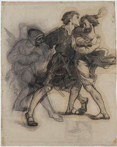 Hamlet apercevant le spectre de son père  Delacroix Eugène (1798-1863) (d'après) Ehrmann François-Emile (1833-1910)  Paris, musée national Eugène Delacroix Réunion des Musées Nationaux-Grand Palais -