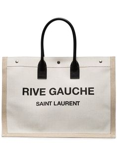 SAINT LAURENT Rive Gauche Tote Bag. #saintlaurent #bags #hand bags #canvas #tote #