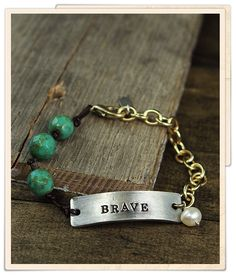 I love the simplicity and the statement this bracelet makes. this is one of the two pieces on this board that are my favorite.