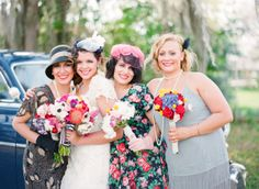 Southern wedding - vintage bridesmaid dresses
