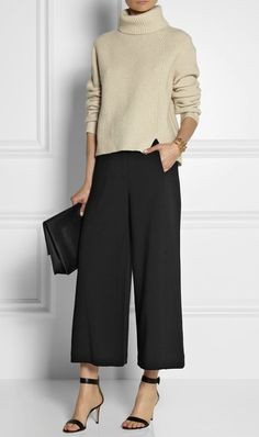 How to wear the culotte, the hot pant length, for Fall'14.