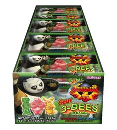 Kung Fu Panda Sour 3-Dees (Display)