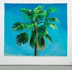 Yutaka Sone - Sky and Palm Tree Head #5, Painting
