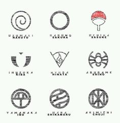 Clan Symbols of Naruto