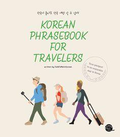 Korean Phrasebook for Traveler by TalkToMeInKorean.com Paperback Book #WorkbookStudyGuide