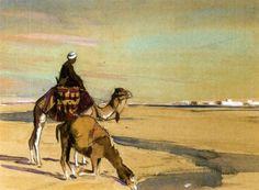Méthariste sur les bords du Nil von Edouard Edmond Doigneau