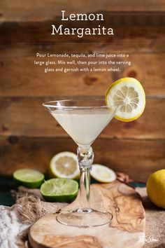 It's like a regular margarita but better. Our Lemon Margarita is light and refreshing. Make it at your next party by mixing lemonade, tequila and lime juice.