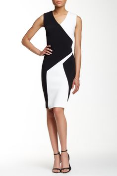 6c280da311ad Colorblock V-Neck Sheath Dress by Calvin Klein on  nordstrom rack Calvin  Klein Dress