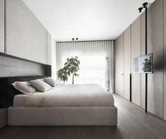 Midcentury modern apartment located in Terni, Italy, designed in 2020 by Studio Mabb. Penthouse Pictures, Interior Architecture, Interior Design, Bed Wall, Decoration Design, Pent House, Midcentury Modern, Layout, Studio
