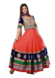 Dress up for any party Floor length Anarkali dresses adds grace to your countenance and gives you a tall and dashing figure to pull off. Anarkali Dress, Anarkali Suits, Long Anarkali, Indian Attire, Indian Ethnic Wear, Indian Dresses, Indian Outfits, Indian Clothes, Latest Suit Design