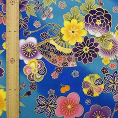 Japanese Kimono design fabric half yard by HanamiBoutique on Etsy, $7.00.    Truthfully some of these kimono fabrics really would make some nice patterns for tattoos.