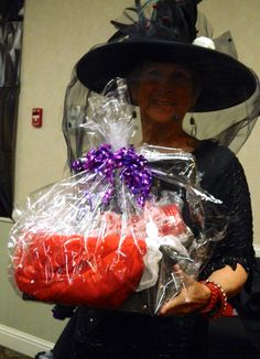 Raffle Prize winner of a donated basket