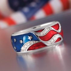 STAR SPANGLED RING w6459 | Stauer.com