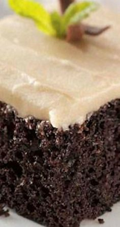 Chocolate Mayonnaise Cake ~ Very moist and has a nice, light chocolate taste