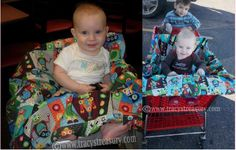 DIY Universal Shopping Cart Cover - Since babies like to gnaw on icky things like shopping carts and restaurant high chairs, here's a handy cover to keep stashed in the car. It makes a nice baby shower gift too! (Lots of cute sewing tutorials here!)
